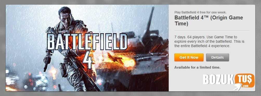 Battlefield 4 Bir Haftalığına Ücretsiz Oldu!