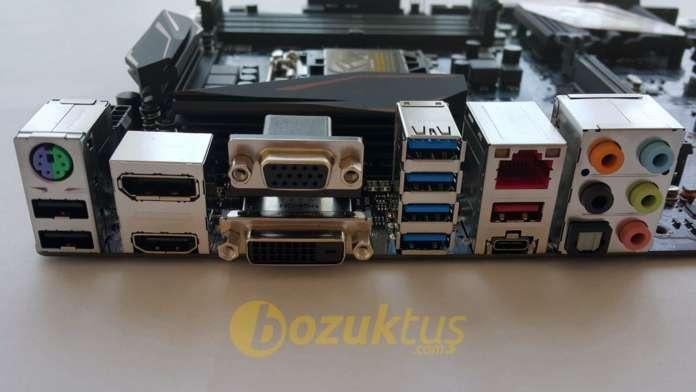 Asus Z170 Pro Gaming' arkaportlar